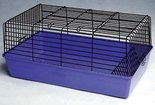 Cavia-kooi-60--Blauw-zwart