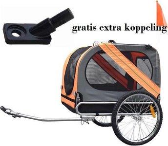 hondenfietskar+ gratis koppeling voor 2de fiets